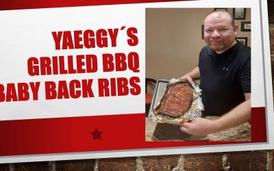 Yaeggy's grilled BBQ baby back ribs